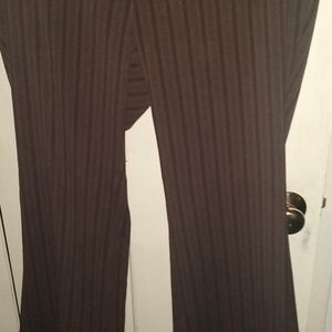 New York & Company Size 16 Brown Striped Pants